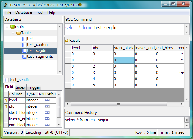 TkSQLite version 0.5 on Vista